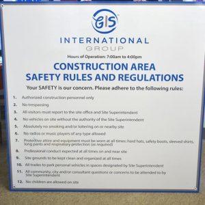 Custom Safety Sign