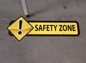 Hawkestone Indoor Signs safety floor vinyl graphics 300x220