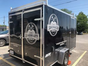 custom vinyl trailer graphics for commercial vehicle