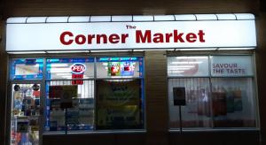 awing corner sign