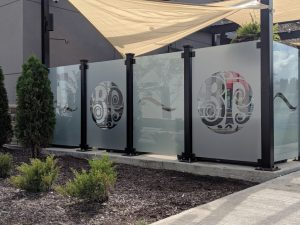 custom etched vinyl privacy film